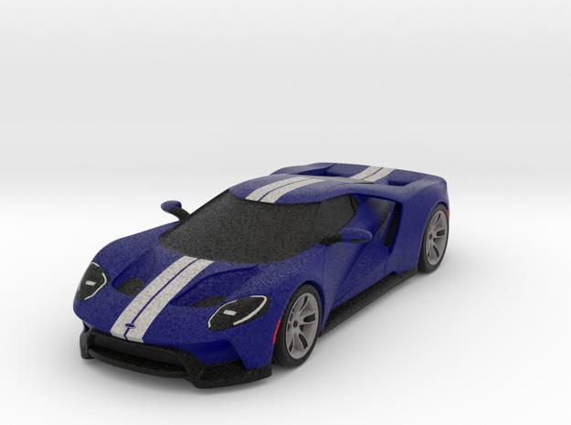 Ford GT - 2017 [150mm & Blue] in Full Color Sandstone
