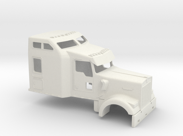 1/50 Kenworth W900 Cab-Sleeper in White Strong & Flexible
