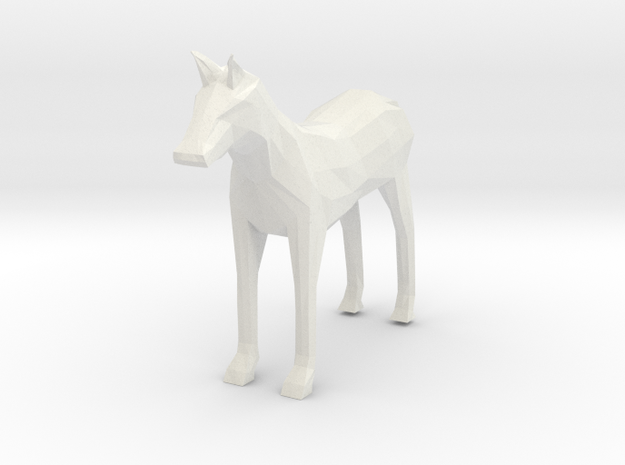 Horse in White Natural Versatile Plastic