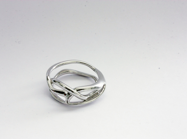 Terpsichore ring in Rhodium Plated Brass: 3 / 44