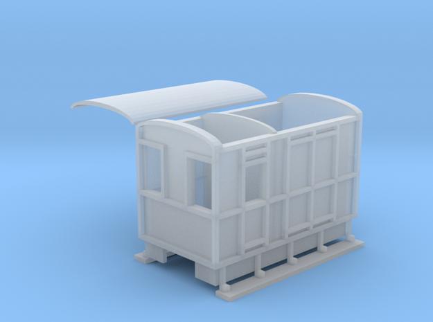 WHHR Brake and luggage van NO.2 ex VOR in Smooth Fine Detail Plastic