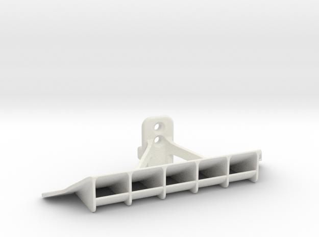 Mini-Z GLA McLaren P1 (lexan) rear diffuser in White Natural Versatile Plastic