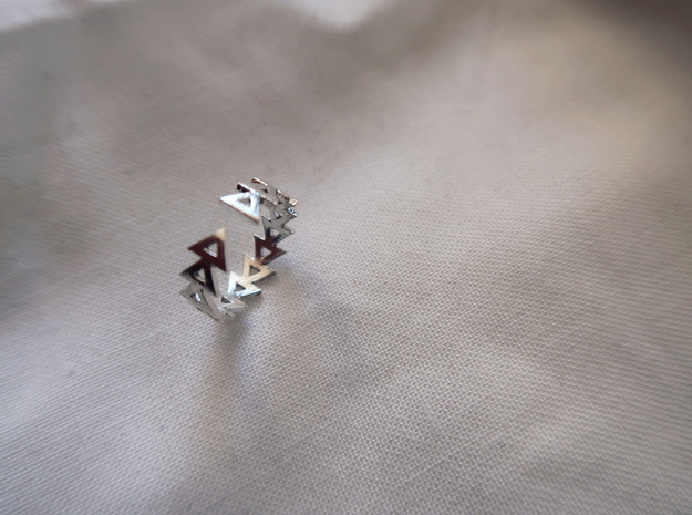 Life Ring in Rhodium Plated Brass: Small