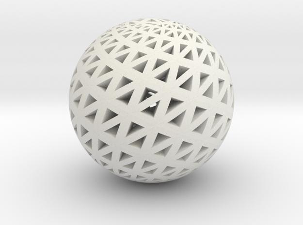 Loxodrome Pendant I in White Natural Versatile Plastic