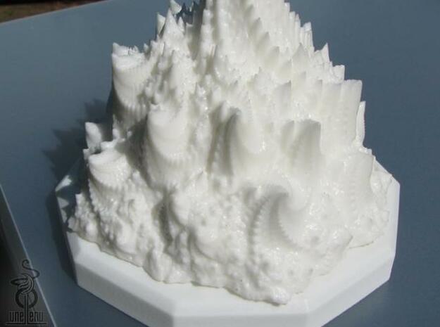 Fractal peaks  3d printed