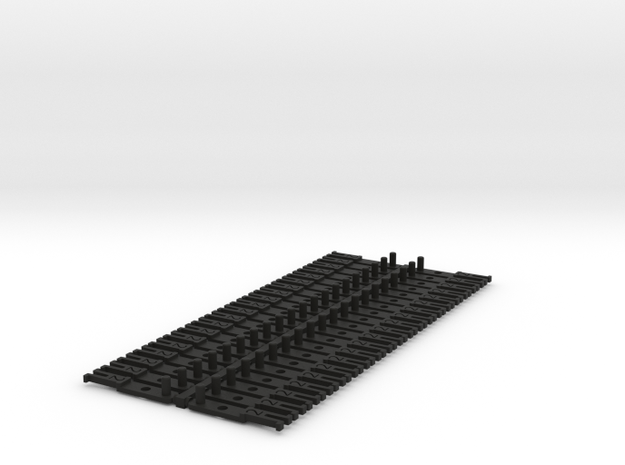 OO NEM Type 2 Coach Drawbar X40 in Black Natural Versatile Plastic