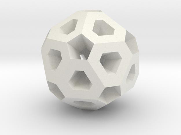 Polyhedron Pendant II in White Natural Versatile Plastic