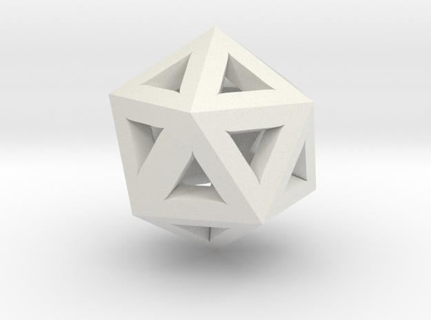 Trigonometric Pendant I in White Natural Versatile Plastic