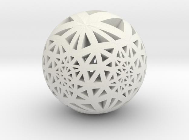 Tri-Loxo Pendant I in White Natural Versatile Plastic