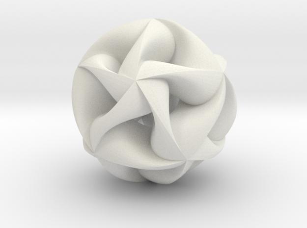 Nexus Pendant II in White Natural Versatile Plastic