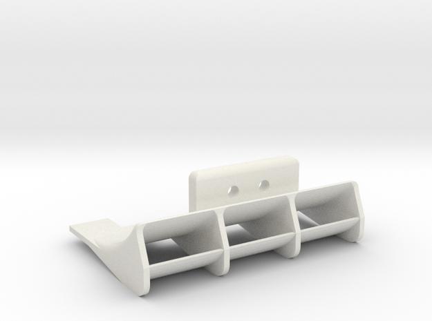 Mini-Z F1 rear diffuser for PN motor mount in White Natural Versatile Plastic