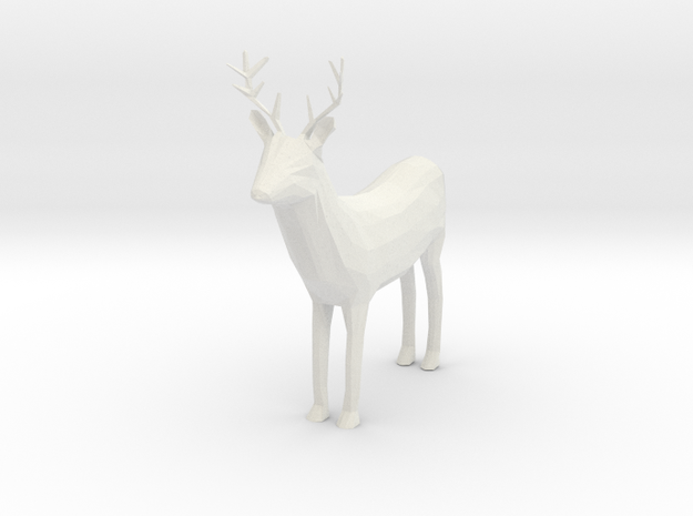 Buck in White Natural Versatile Plastic