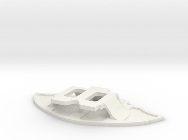 Mini-Z GL racing front bumper for McLaren in White Natural Versatile Plastic