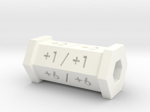+1/+1 Counter in White Processed Versatile Plastic