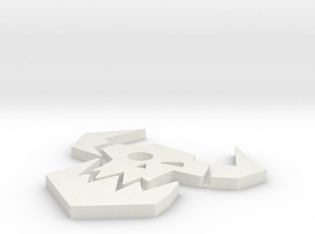 Ork_Icon_20mm_plain in White Natural Versatile Plastic