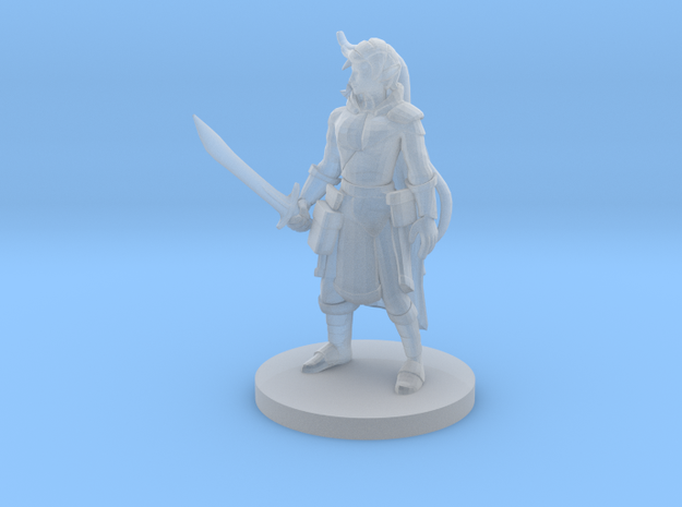 Elf Female  Ranger with Sword in Smooth Fine Detail Plastic