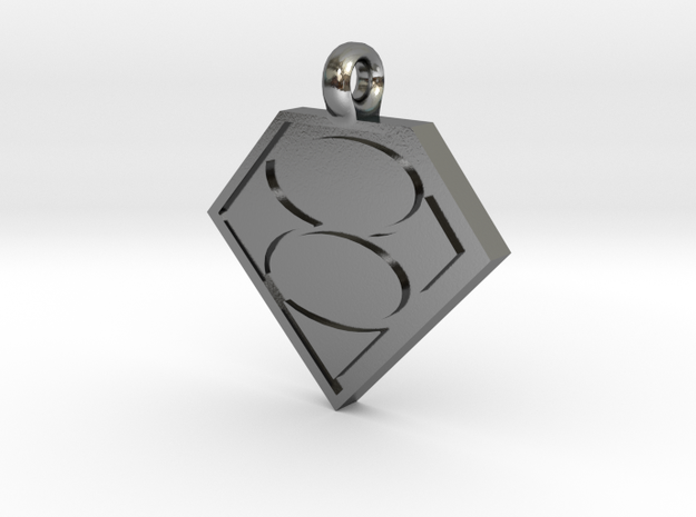 Smallville House of El necklace in Polished Silver
