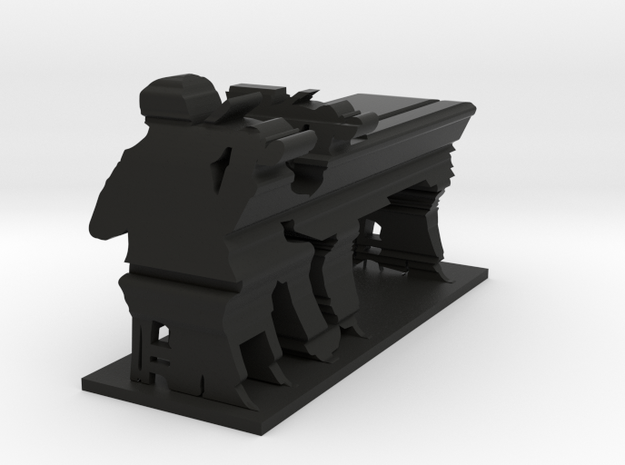 Piano... or violin? in Black Natural Versatile Plastic
