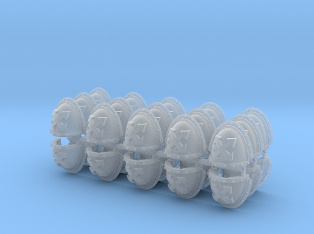Assault Squad Mk3 Shoulder Pads x30 in Smooth Fine Detail Plastic