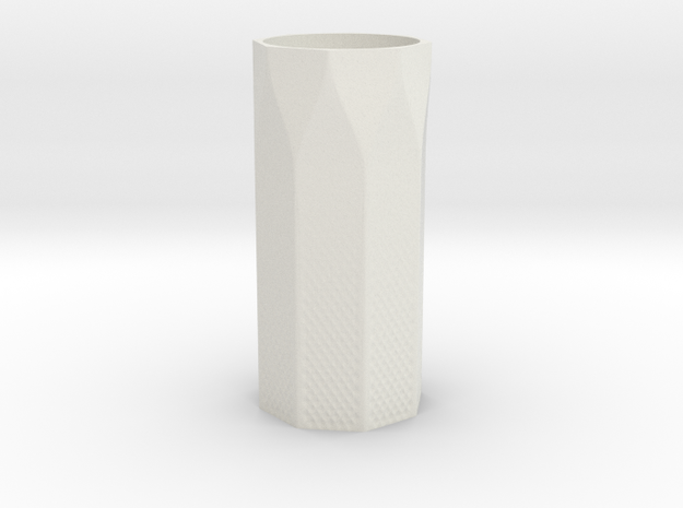 Vase with Pattern in White Natural Versatile Plastic