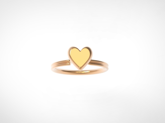 Flowing Heart Solitaire in 14k Rose Gold Plated Brass: 6 / 51.5