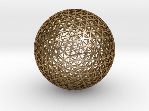 GEO DOME - 100mm in Polished Gold Steel