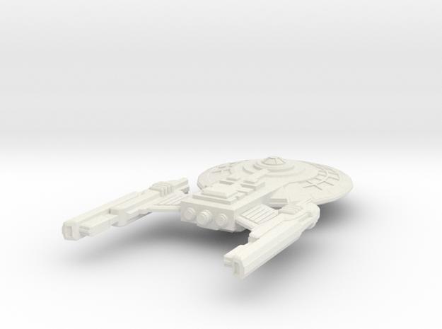 USS Villachez in White Premium Versatile Plastic: Extra Small