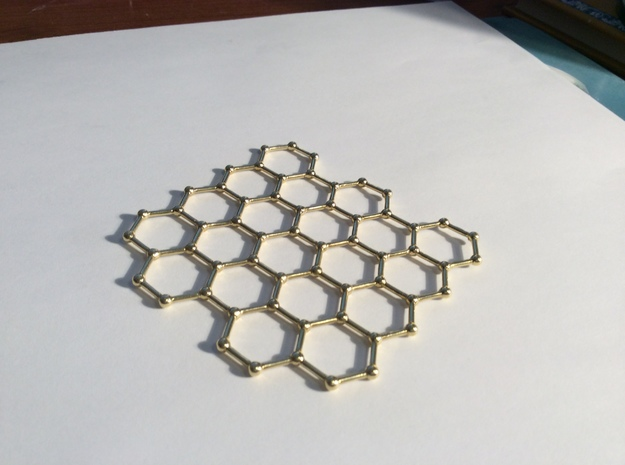 Graphene Lattice in Polished Brass
