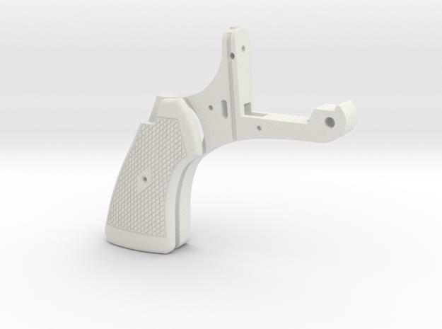 Webley Flaregun Handle Grip in White Natural Versatile Plastic