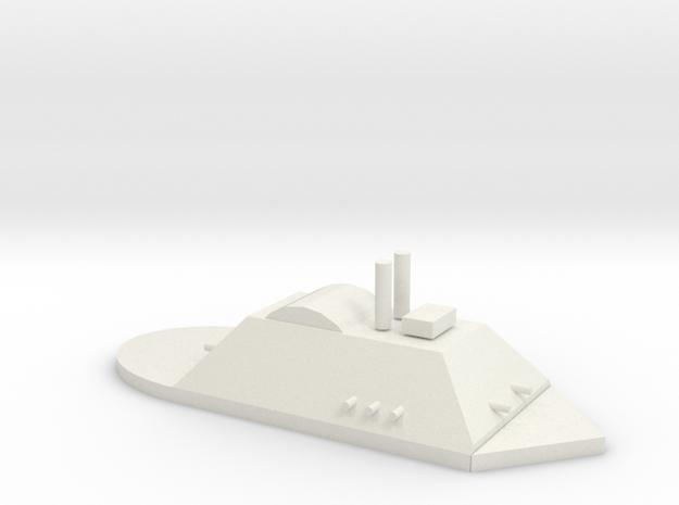 City Class Gunboat in White Natural Versatile Plastic