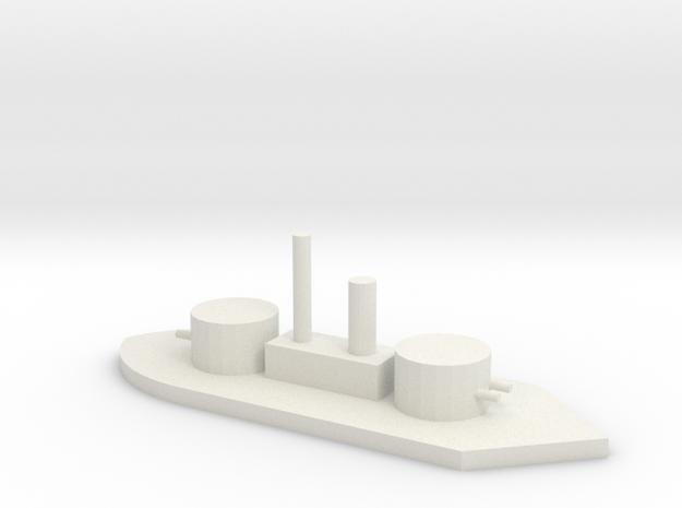 Union Monitor U.S.S. Ozark in White Natural Versatile Plastic