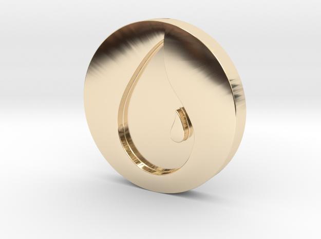 Island Token in 14k Gold Plated Brass