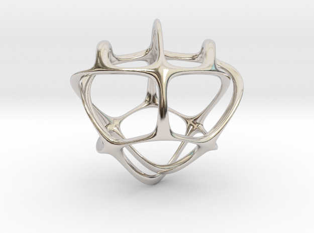 Construction of feelings. Pendant in Rhodium Plated Brass