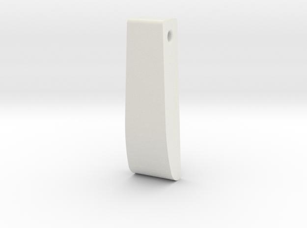 Square Teardrop in White Natural Versatile Plastic