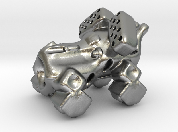 The intrepid cannon space-crawler! in Natural Silver