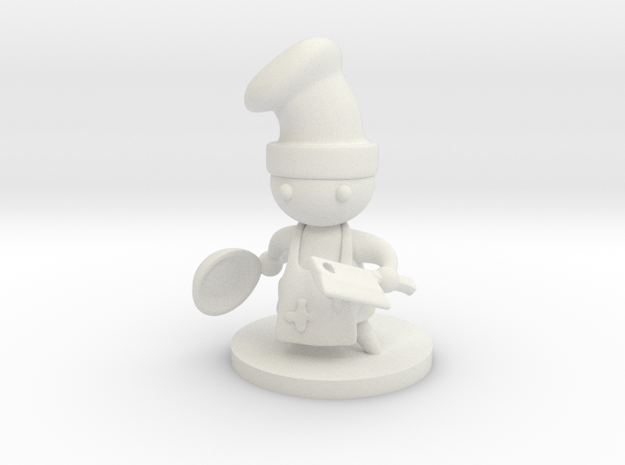 Battle Chef in White Natural Versatile Plastic