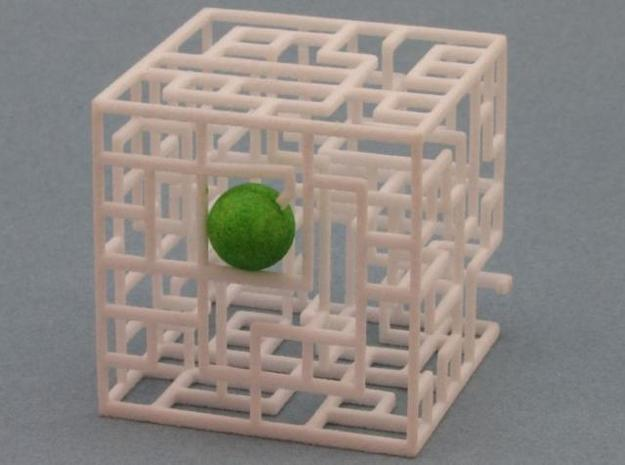 Floating Labyrinth 666 3d printed Ball in Entrance