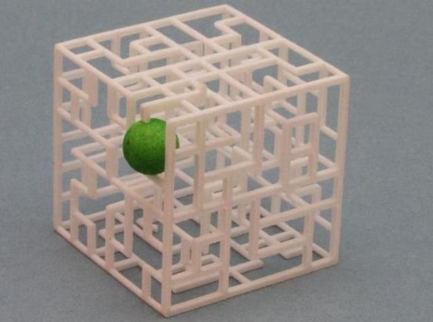 Floating Labyrinth 666 3d printed Ball at Exit