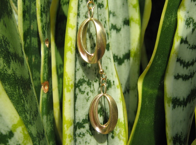 Oval 1 Earrings 3d printed