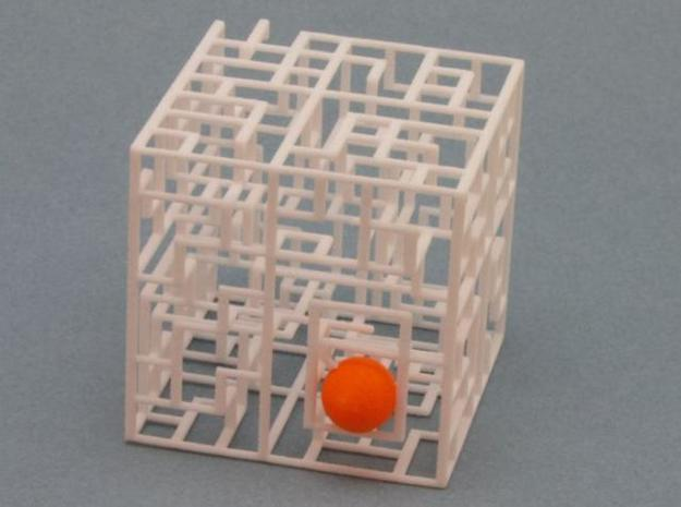 Escher's Playground 3D Maze Cube 3d printed Ball in entrance