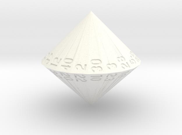 d40 (Mini) in White Processed Versatile Plastic