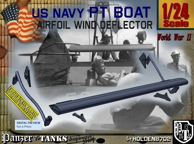1/24 PT Boat Airfoil Wind Deflector Set001