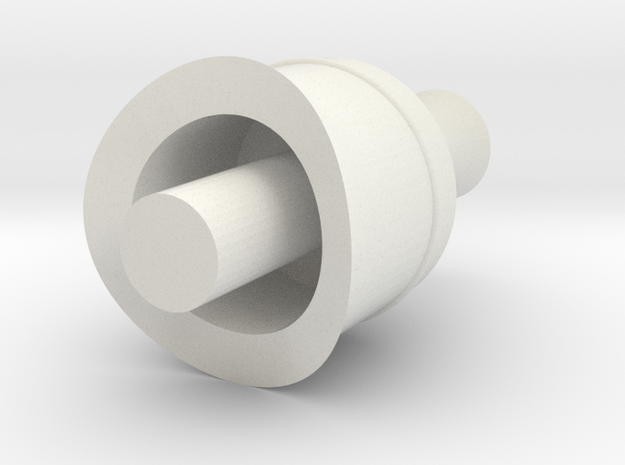 Gauge 3 Neilson steam dome in White Natural Versatile Plastic