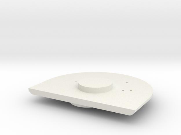 Gauge 3 Neilson Firebox backhead in White Natural Versatile Plastic
