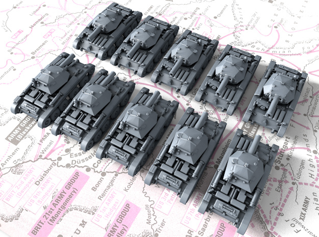 1/700 British Covenanter Light Tank x10 in Smoothest Fine Detail Plastic