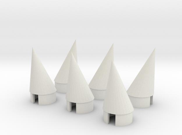 BT 20 Pod nosecone 6EA in White Natural Versatile Plastic