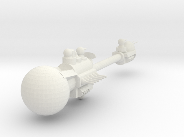 Destroyer MK 2 in White Natural Versatile Plastic