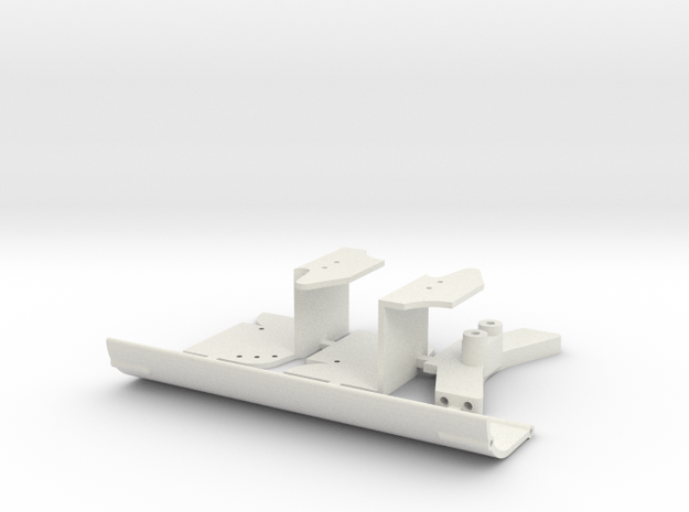 Aileron F1 V2 in White Natural Versatile Plastic