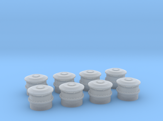 1/192 USS BB59 Vent small Set x8 in Frosted Ultra Detail