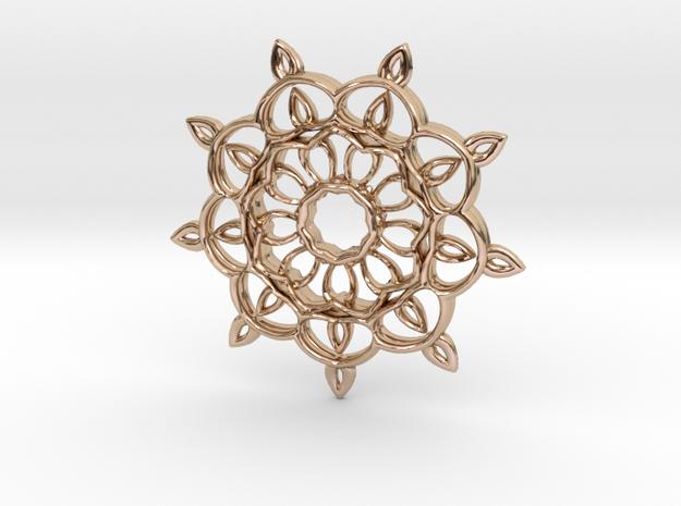 Kali Mandallion in 14k Rose Gold Plated Brass